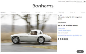 Bonham's Auction - Sport and Specialty's Austin Healey 100R