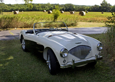 The finished1956 Austin Healey 100M